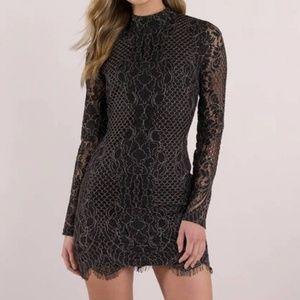 TOBI NWT Out to Town Black Lace Bodycon Dress M